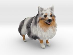 Custom Dog Figurine - Scribble in Full Color Sandstone
