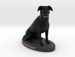 Custom Dog Figurine - Dawkins in Full Color Sandstone