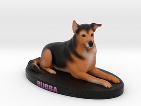 Custom Dog Figurine - Bubba in Full Color Sandstone