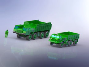MAZ 7310 / ZIL 135 Trucks 1/200 in Smooth Fine Detail Plastic