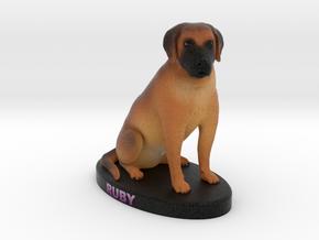 Custom Dog Figurine - Ruby in Full Color Sandstone