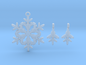 Snowflakes pendants in Smoothest Fine Detail Plastic