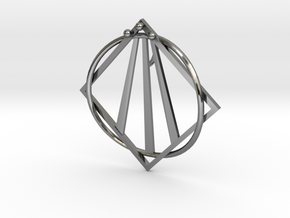 Awen Bard Pendant in Fine Detail Polished Silver
