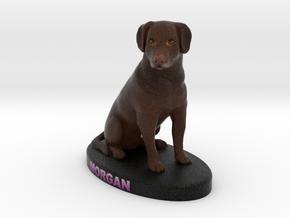 Custom Dog Figurine - Morgan in Full Color Sandstone