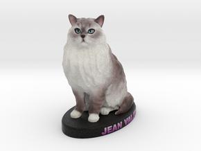 Custom Cat Figurine - Jean in Full Color Sandstone