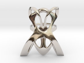 INTERLACE RING (US 6 / GER 53 / Ø inside 16,9 mm) in Rhodium Plated Brass