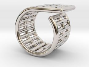 ROLL RING 6,5 in Rhodium Plated