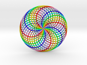 0163 Torus of Doubly Twisted Strips (n=32, d=15cm) in Full Color Sandstone
