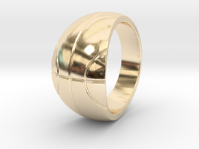 Size 6 Basketball Ring  in 14k Gold Plated Brass