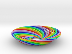 0164 Torus of Doubly Twisted Strips (n=32,d=15mm) in Full Color Sandstone