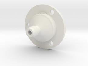 Drip Nozzle (3/8 Inch, 3 Holes) - 3Dponics in White Natural Versatile Plastic