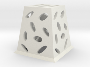 Planter (Square) - 3Dponics  in White Strong & Flexible