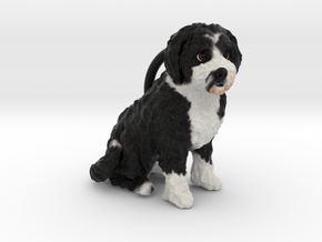 Custom Dog Ornament - Macy in Full Color Sandstone