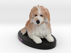 Custom Dog Figurine - Zoe in Full Color Sandstone