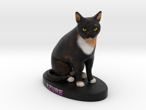 Custom Cat Figurine - Azure in Full Color Sandstone