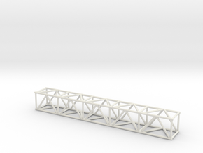 "10' 16""sq Box Truss 1:48 in White Natural Versatile Plastic"