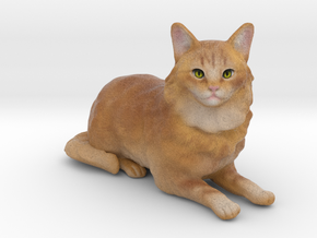 Custom Cat Figurine - Mossy in Full Color Sandstone