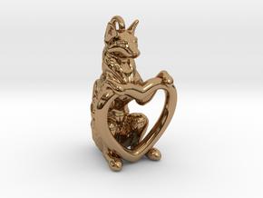 Fox Heart in Polished Brass