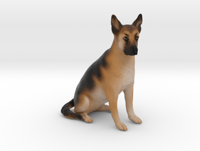 Custom Dog Figurine - Zeke in Full Color Sandstone