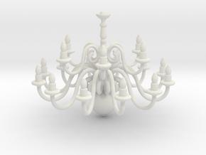 Chandelier  in White Natural Versatile Plastic