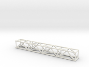 "8' 12""sq Box Truss 1:48 in White Natural Versatile Plastic"