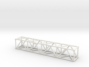 "8' 16""sq Box Truss 1:48 in White Natural Versatile Plastic"