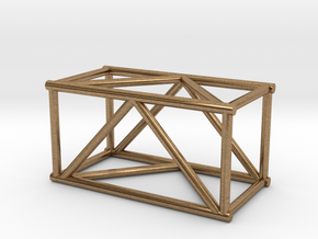 "2'6"" 16""sq Box Truss 1:48 in Natural Brass"