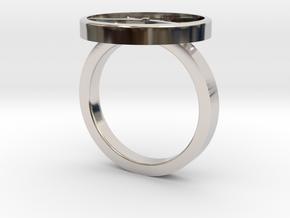 Watch Ring in Rhodium Plated Brass