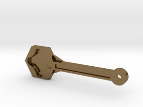 Gopro Screw Knob Wrench W/ KeyChain Loop in Polished Bronze