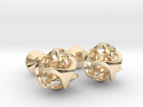 Ora by Bathsheba Cufflinks in 14k Gold Plated Brass