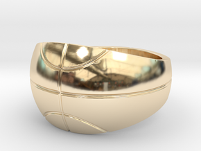 Size 13 Basketball Ring  in 14K Gold