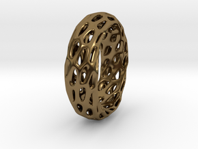 Trous Ring in Polished Bronze