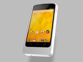 Nexus 4 2500mah Charger with USB Power Out in White Strong & Flexible