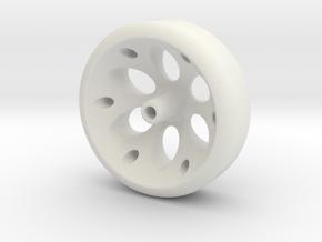 Enigma Pinewood Wheel in White Natural Versatile Plastic