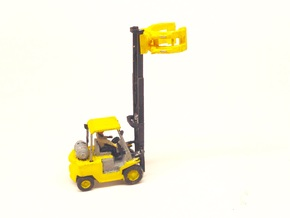N Scale 1:160 Forklift With Paper Clamp in Frosted Ultra Detail