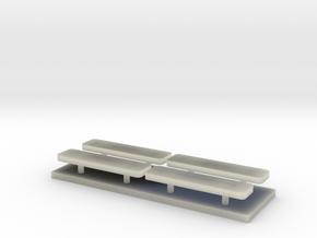 Whelen lightbar 29,5 mm 4stuks 1/43 in Transparent Acrylic