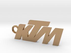 KTM keychain in Polished Brass