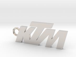KTM keychain in Rhodium Plated Brass