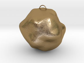 Stone Charm in Polished Gold Steel