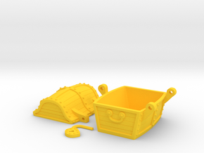 Chest for gold in Yellow Processed Versatile Plastic