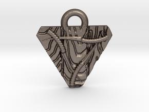 Skaven Shield keychain in Polished Bronzed Silver Steel