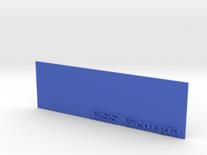 Base for 1/600 CSS Georgia in Blue Processed Versatile Plastic