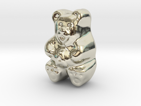 Gummy Bear Actual Size in 14k White Gold