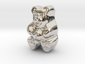 Gummy Bear Actual Size in Rhodium Plated Brass