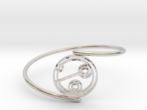 Julie - Bracelet Thin Spiral in Rhodium Plated Brass