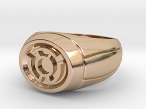 Yellow Lantern Ring in 14k Rose Gold Plated Brass