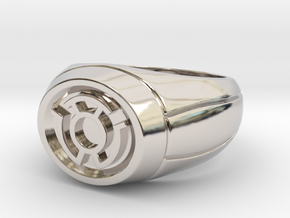 Yellow Lantern Ring in Rhodium Plated Brass