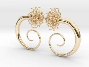 Plugs  /gauge The Gorgon / size 2G (6.5 mm) in 14K Yellow Gold