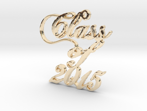 Class of 2015 Script Necklace Pendant in 14K Yellow Gold