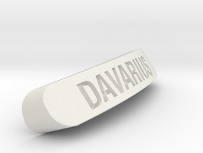 DAVARIUS Nameplate for Steelseries Rival in White Natural Versatile Plastic